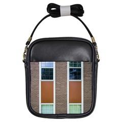 Pattern Symmetry Line Windows Girls Sling Bags