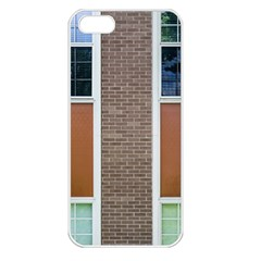 Pattern Symmetry Line Windows Apple Iphone 5 Seamless Case (white)