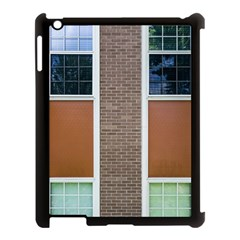 Pattern Symmetry Line Windows Apple iPad 3/4 Case (Black)