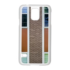 Pattern Symmetry Line Windows Samsung Galaxy S5 Case (white)
