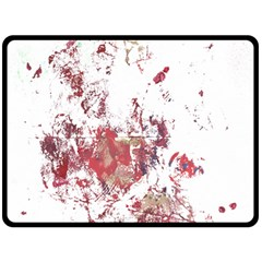 Abstract Reds Double Sided Fleece Blanket (Large)