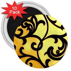 Texture Pattern Beautiful Bright 3  Magnets (10 Pack)