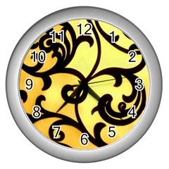Texture Pattern Beautiful Bright Wall Clocks (silver)