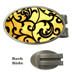 Texture Pattern Beautiful Bright Money Clips (oval)
