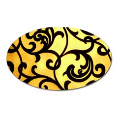 Texture Pattern Beautiful Bright Oval Magnet