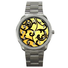 Texture Pattern Beautiful Bright Sport Metal Watch