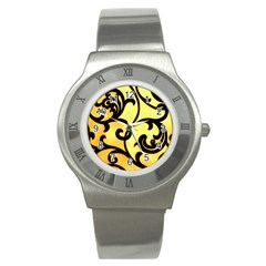 Texture Pattern Beautiful Bright Stainless Steel Watch