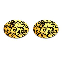 Texture Pattern Beautiful Bright Cufflinks (oval)