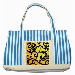 Texture Pattern Beautiful Bright Striped Blue Tote Bag