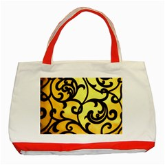 Texture Pattern Beautiful Bright Classic Tote Bag (red)