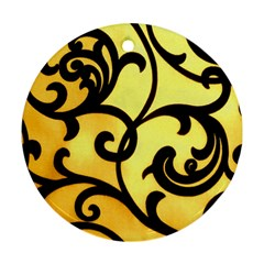 Texture Pattern Beautiful Bright Round Ornament (two Sides)