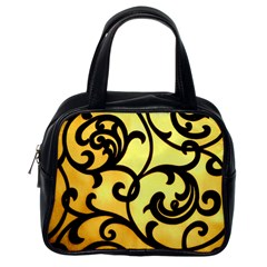 Texture Pattern Beautiful Bright Classic Handbags (one Side)