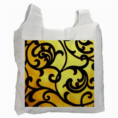 Texture Pattern Beautiful Bright Recycle Bag (One Side)