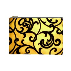 Texture Pattern Beautiful Bright Cosmetic Bag (large)