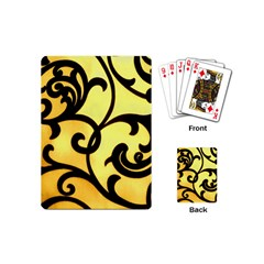 Texture Pattern Beautiful Bright Playing Cards (mini)