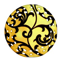 Texture Pattern Beautiful Bright Ornament (Round Filigree)