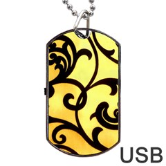 Texture Pattern Beautiful Bright Dog Tag USB Flash (Two Sides)