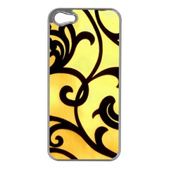 Texture Pattern Beautiful Bright Apple Iphone 5 Case (silver)