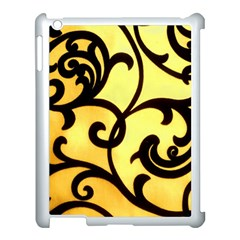 Texture Pattern Beautiful Bright Apple iPad 3/4 Case (White)