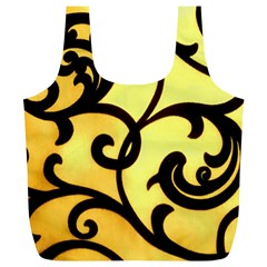 Texture Pattern Beautiful Bright Full Print Recycle Bags (l)