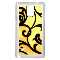 Texture Pattern Beautiful Bright Samsung Galaxy Note 4 Case (white)