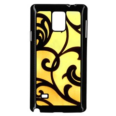 Texture Pattern Beautiful Bright Samsung Galaxy Note 4 Case (Black)