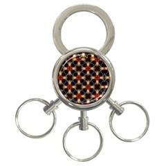 Kaleidoscope Image Background 3-Ring Key Chains