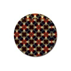 Kaleidoscope Image Background Magnet 3  (round)