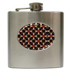 Kaleidoscope Image Background Hip Flask (6 Oz)