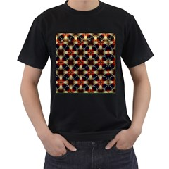 Kaleidoscope Image Background Men s T Shirt (black) (two Sided)