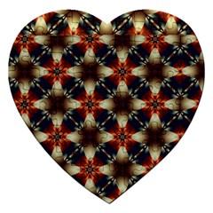Kaleidoscope Image Background Jigsaw Puzzle (heart)