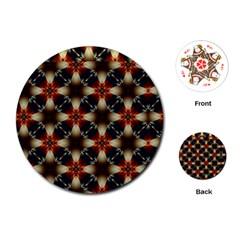 Kaleidoscope Image Background Playing Cards (round)