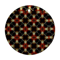 Kaleidoscope Image Background Round Ornament (Two Sides)