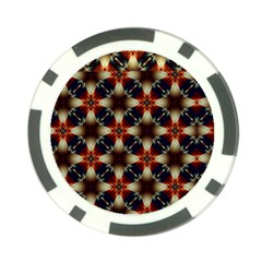 Kaleidoscope Image Background Poker Chip Card Guard