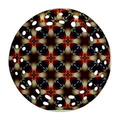 Kaleidoscope Image Background Round Filigree Ornament (Two Sides)