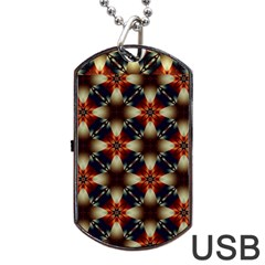 Kaleidoscope Image Background Dog Tag USB Flash (Two Sides)