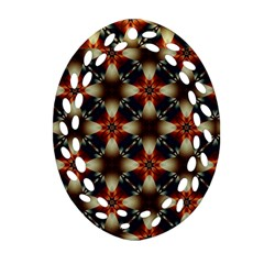 Kaleidoscope Image Background Oval Filigree Ornament (two Sides)