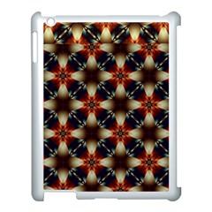 Kaleidoscope Image Background Apple iPad 3/4 Case (White)