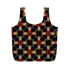 Kaleidoscope Image Background Full Print Recycle Bags (M)