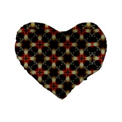 Kaleidoscope Image Background Standard 16  Premium Flano Heart Shape Cushions