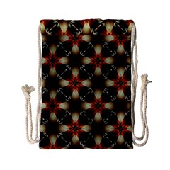 Kaleidoscope Image Background Drawstring Bag (Small)