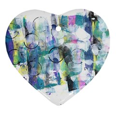 Background Color Circle Pattern Ornament (heart)