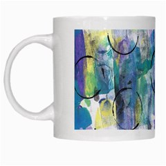 Background Color Circle Pattern White Mugs