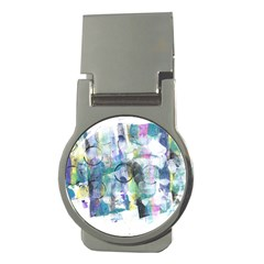 Background Color Circle Pattern Money Clips (round)
