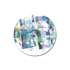 Background Color Circle Pattern Magnet 3  (round)