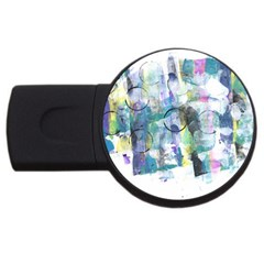 Background Color Circle Pattern USB Flash Drive Round (1 GB)