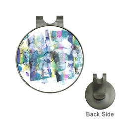 Background Color Circle Pattern Hat Clips With Golf Markers