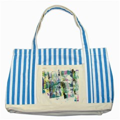 Background Color Circle Pattern Striped Blue Tote Bag
