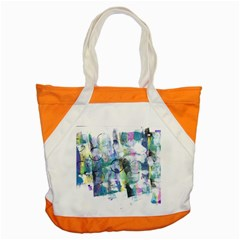 Background Color Circle Pattern Accent Tote Bag