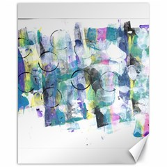 Background Color Circle Pattern Canvas 16  x 20